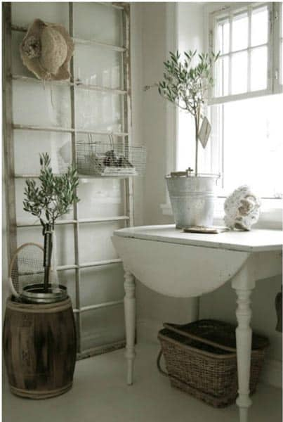 Standalone Window Bathroom Shelves