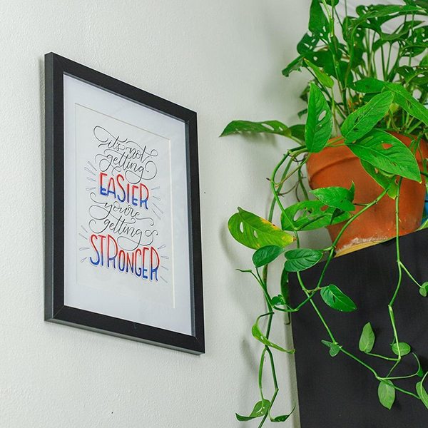 Beautifully Put Together Wall Art With Quote