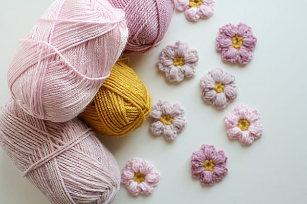 yarn and flowers
