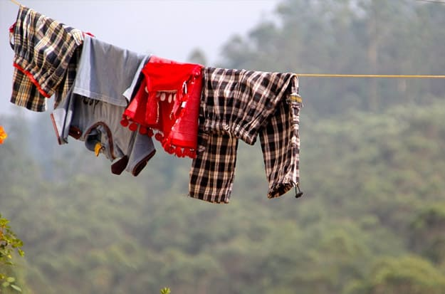 drying clothes outside naturally