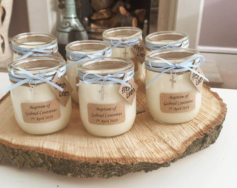 First communion homemade candles