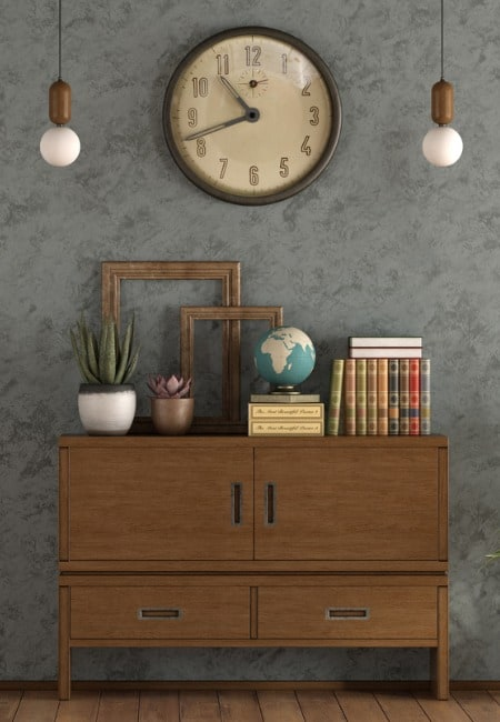 large deco wall clock