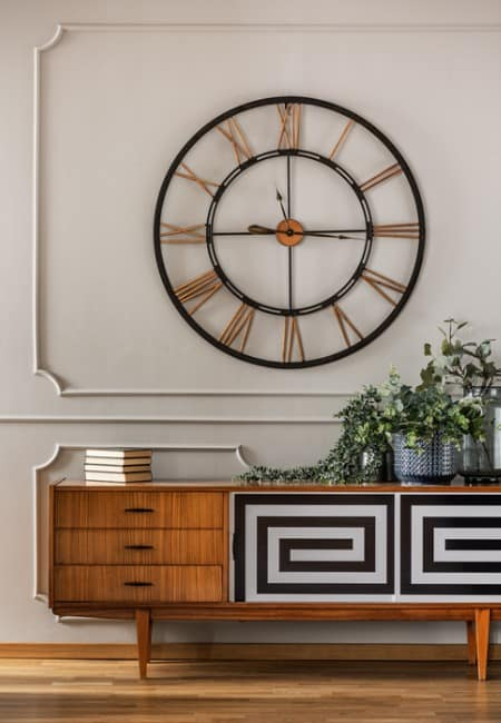 decorating with large wall clocks