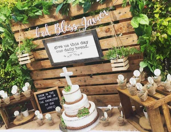 rustic first communion decorations