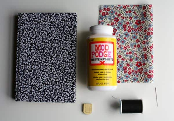 DIY book clutch supplies