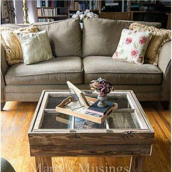 Old Rustic Window Coffee Table