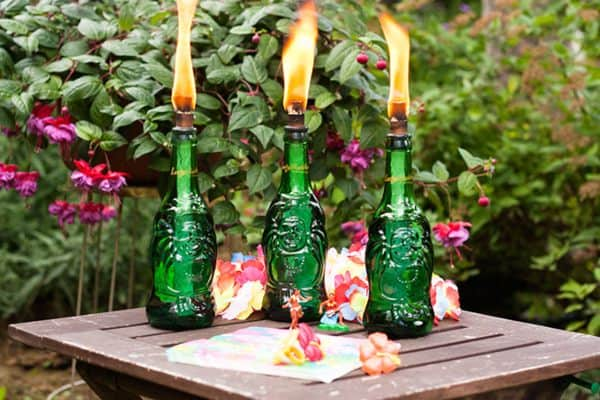 Lucky Buddha Tiki Torches