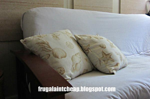 White-Sheet-Futon-Cover