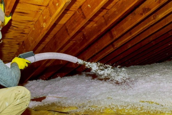 blown in attic and roof insulation
