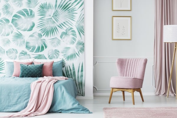 comfortable-pale-pink-upholstered-chair