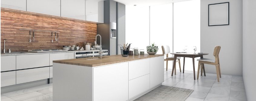 contemporary kitchen bar in dining room