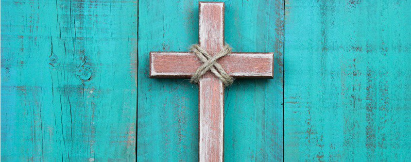 rustic wooden cross decor