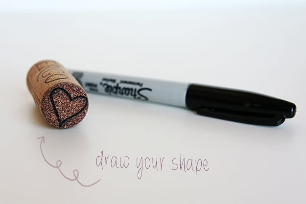 Drawing on cork first