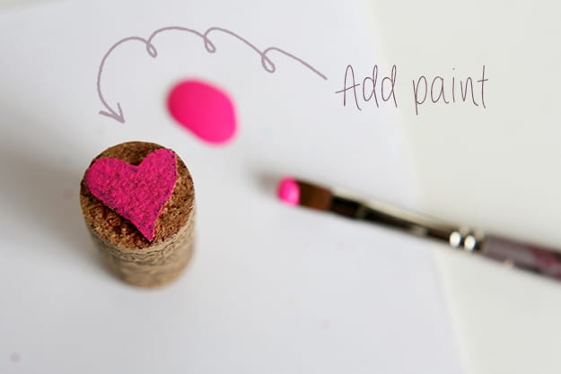 Adding paint to your cork cutout