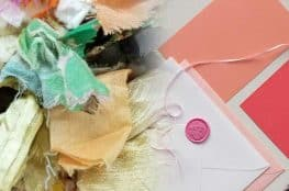 Using fabric on a greeting card