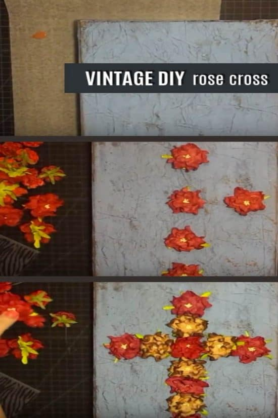 diy rose cross