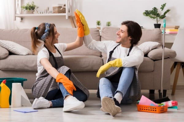 enjoy cleaning the house