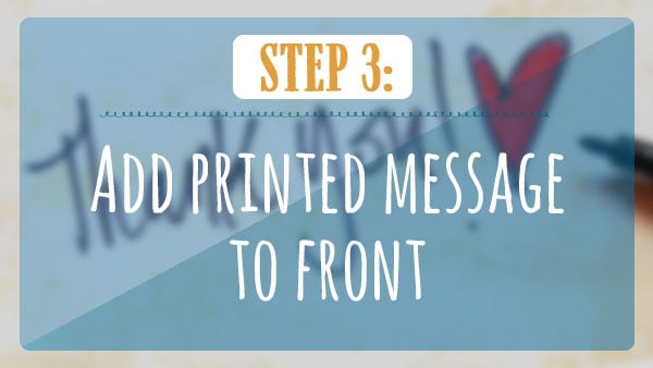 Add printed message to front