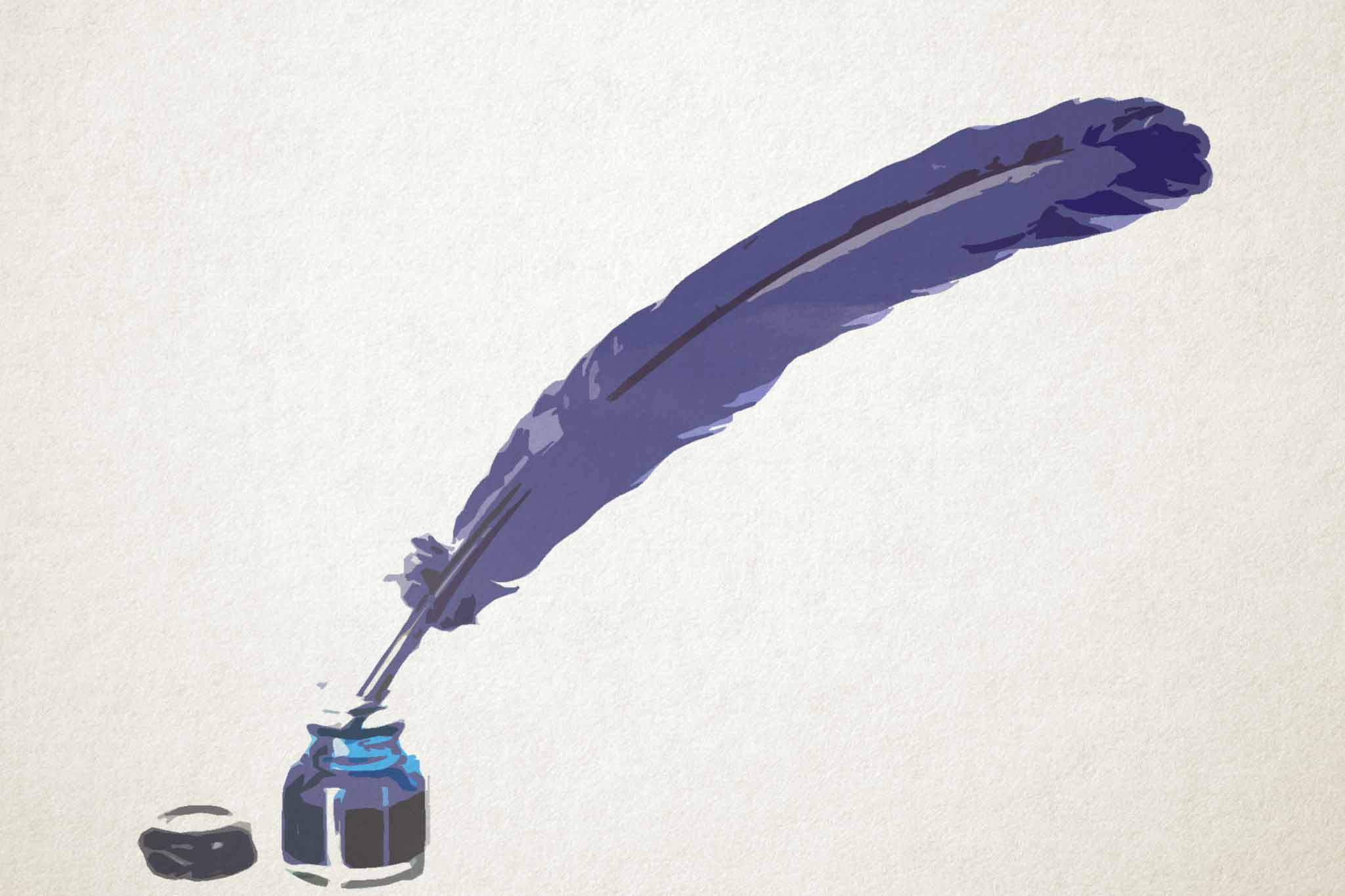 feather pale purple ink