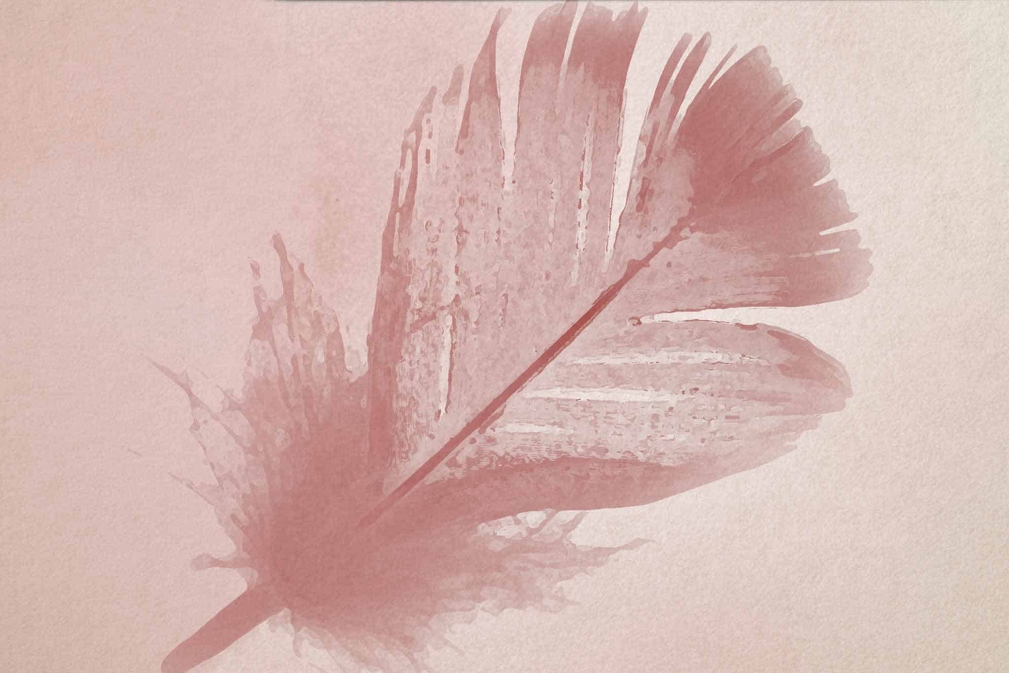 feather pink light