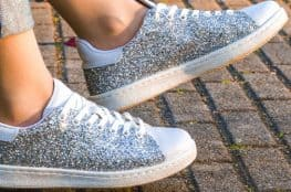 DIY glitter converse shoes