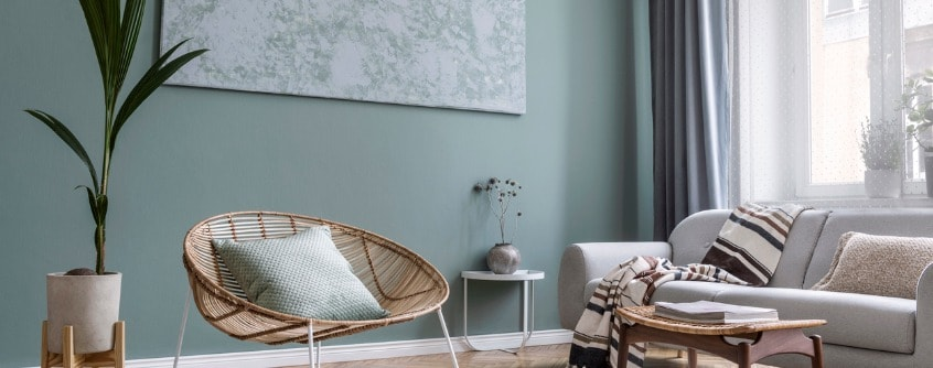 modern and bohemian room color to paint