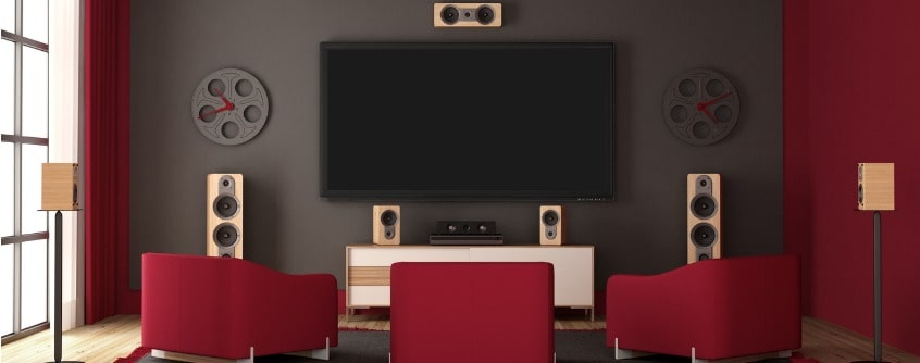 modern-home-cinema-with-flat-tv-and-audio-equipment