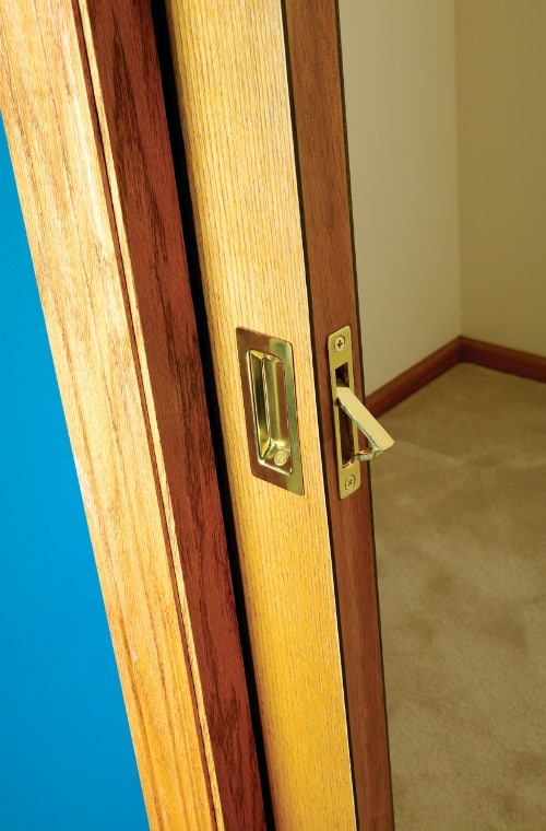 open-wooden-pocket-door