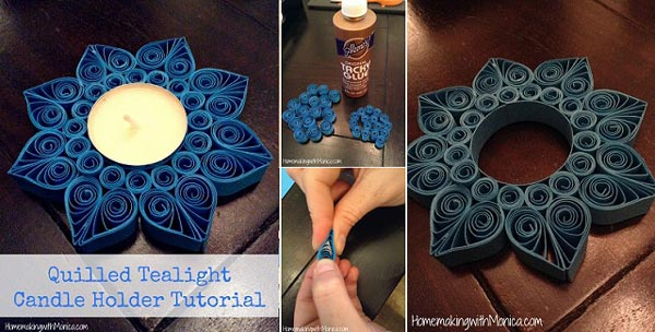 quilled-tealight-candle-holder