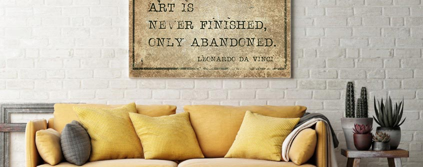 Quote on DIY wall canvas