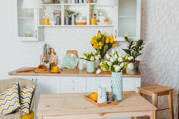 spring decor in house